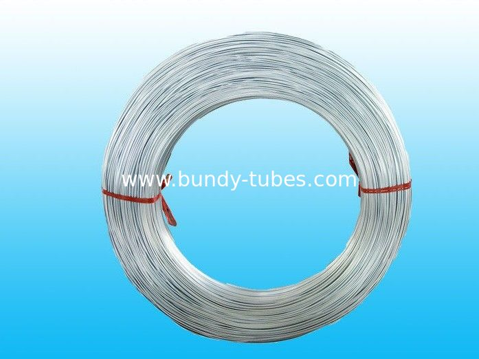 Hot Galvanized Steel Tube , Zinc Coated Bundy Tubes 4mm X 0.5 mm