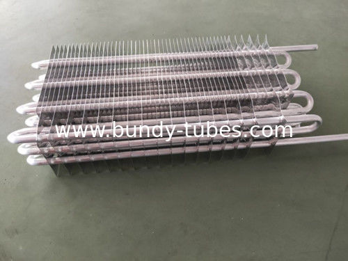 Well - Assembled Refrigerator No Frost Heater Fin Evaporator With Aluminum Material For Freezer