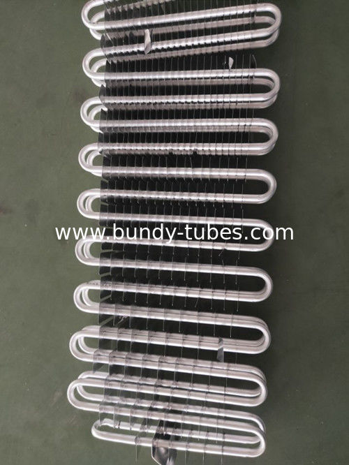 High Heat Exchange Intensity Refrigeration Evaporators Aluminum Type Fin Evaporator