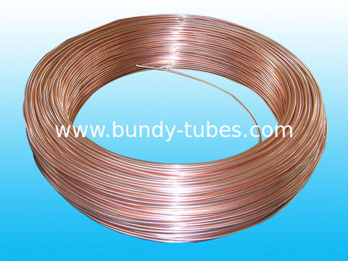 Copper Coated Bundy Tube , Soft Low Carbon Bundy Tubes